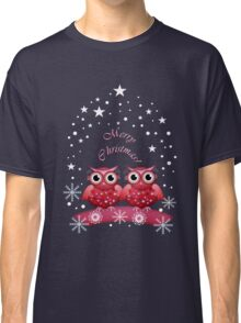 Two Owls Merry Christmas Tee Classic T-Shirt