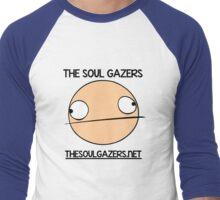 The Soul Gazers Black Text Shirt/Jacket/Stickers Men's Baseball ¾ T-Shirt