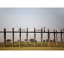 U Bein Bridge, Myanmar   Photographic Print