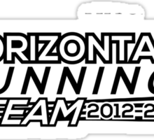 Horizontal Running Team Sticker