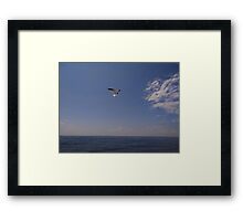 You and me and the bright blue sea Framed Print