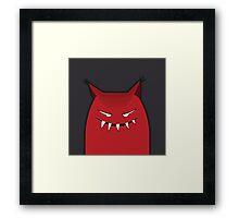 Black Red Devil Art Design  Framed Print