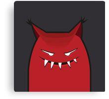 Black Red Devil Art Design  Canvas Print