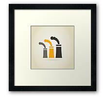 Factory pipe Framed Print