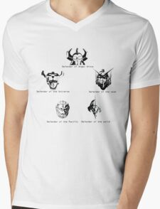 Defenders Mens V-Neck T-Shirt