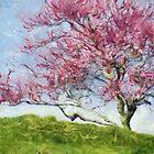 Pink Flowering Tree by Jean Gregory  Evans