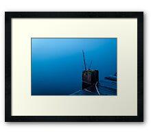 Simplistic Blue Framed Print