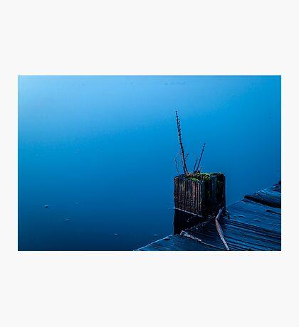 Simplistic Blue Photographic Print
