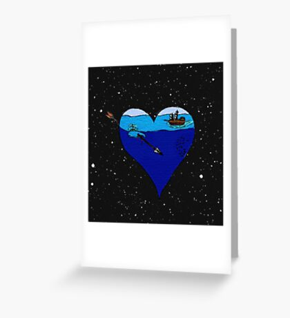 lost in space II Greeting Card