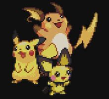 Pikachu Evolutions by Flaaffy