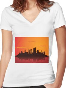 Factory3 Women's Fitted V-Neck T-Shirt