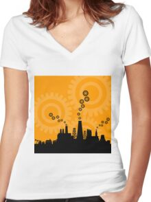 Factory8 Women's Fitted V-Neck T-Shirt