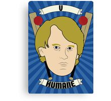 Doctor Who Portraits - Fifth Doctor - Humane Canvas Print