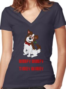 Dogtor Who Women's Fitted V-Neck T-Shirt