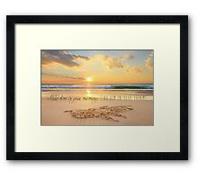 Find Him In Your Dreams Framed Print