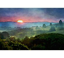 Sunset watercolour Photographic Print