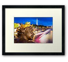Enchanted Paris Evening Framed Print
