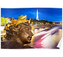 Enchanted Paris Evening Poster
