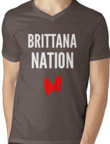 Brittana Nation (dark shirts) Mens V-Neck T-Shirt