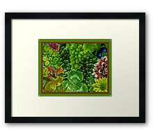 Green Grapes Collage Framed Print