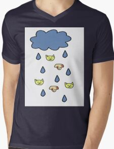 It's Raining Cats and Dogs Mens V-Neck T-Shirt