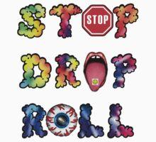 Stop, drop and roll Rainbow Kids Tee