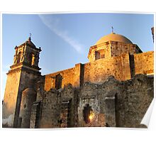 Mission San Jose at Sunset Poster