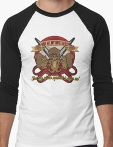 Day of the Squirrel - Sears Squirrel Commercial Parody - Coupon Cutting Squirrels Revolt - Nut Up My Brothers Men's Baseball ¾ T-Shirt