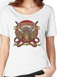 Day of the Squirrel - Sears Squirrel Commercial Parody - Coupon Cutting Squirrels Revolt - Nut Up My Brothers Women's Relaxed Fit T-Shirt