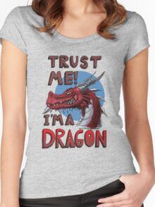 Trust ME! I'm a Dragon! Women's Fitted Scoop T-Shirt