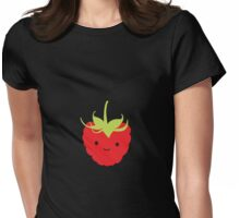 Cute Kawaii Red Raspberry Womens Fitted T-Shirt
