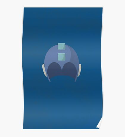 Cool Megaman Helmet Picture Poster