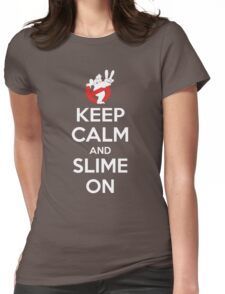 Keep Calm and Slime On Womens Fitted T-Shirt