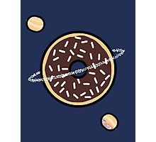 Donut Planets- Chocolate with Sprinkles Photographic Print