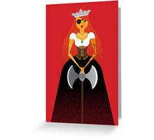 Dama Greeting Card