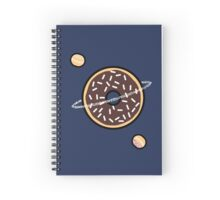 Donut Planets- Chocolate with Sprinkles Spiral Notebook