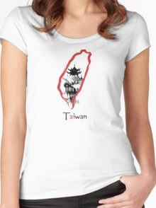 Taiwan Women's Fitted Scoop T-Shirt