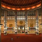 Inside Istiqlal Mosque by Vickie Burt