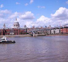 The Thames view over millenium bridge by Arvind Singh