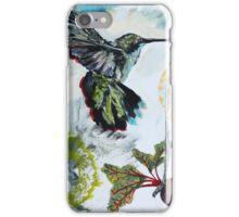 Hummingbird holding Radish iPhone Case/Skin
