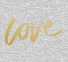 Love Gold Black Typography Kids Clothes