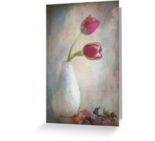 antique tulips Greeting Card