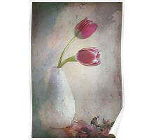 antique tulips Poster