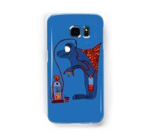Dolphin, blue, sea, gas, station, comic, kids, love, ocean Samsung Galaxy Case/Skin