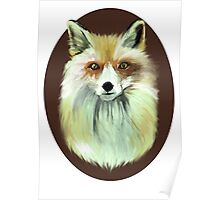 Pale Red Fox Poster