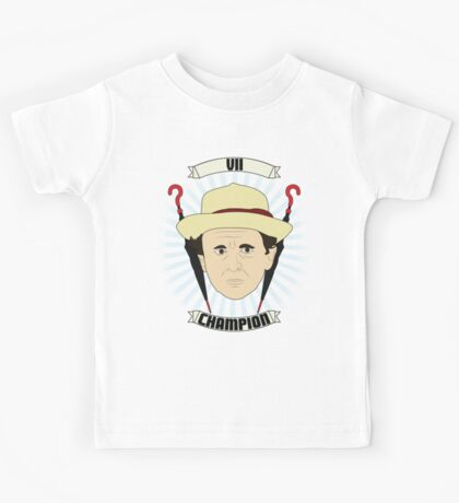 Doctor Who Portraits - Seventh Doctor - Champion Kids Tee