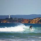 Surfing By The Point by Andrew S