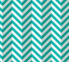Cyan Chevrons  by threeblackdots
