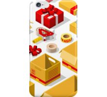 Packaging Objects Isometric iPhone Case/Skin