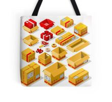 Packaging Objects Isometric Tote Bag
